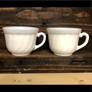 Vintage Gibson China Embossed Fluted Mugs